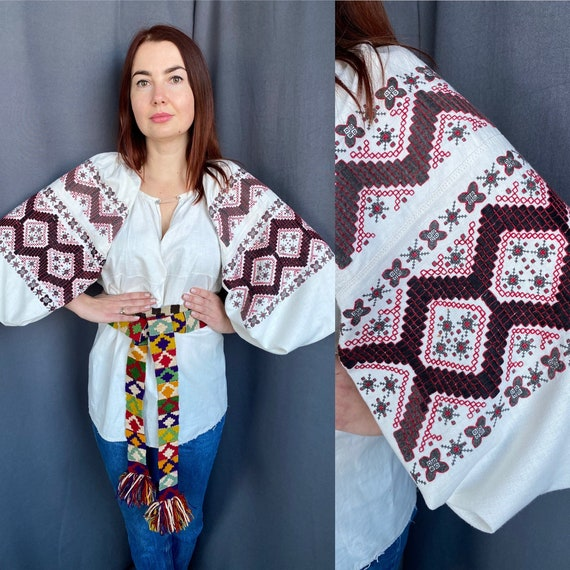 Embroidered blouse Vintage blouse Antique blouse G