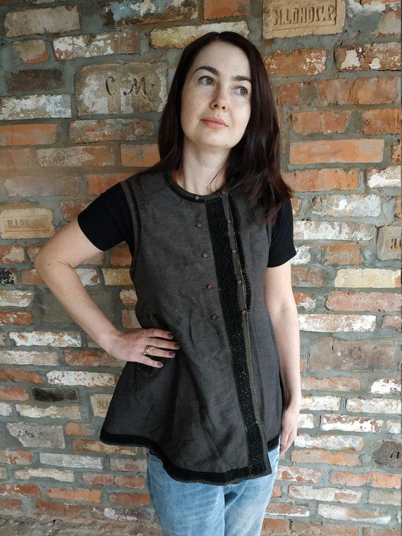 Vest Ukrainian vest Vintage vest Antique vest Fol… - image 1