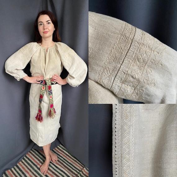 Rustic style Ethnic dresses Hemp dresses Homespun