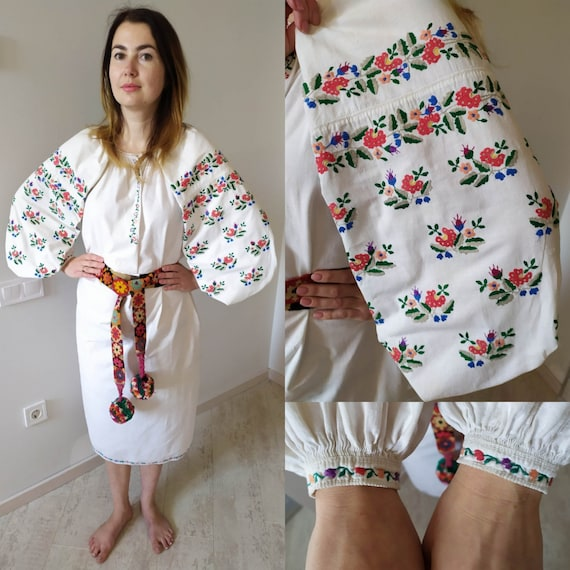 authentic embroidery dress Vintage Embroidered Dre