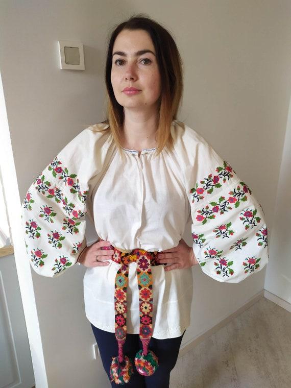 Embroidered shirt Ukranian embroidering Handimade