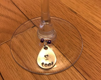 Custom/personalized Wine Charms