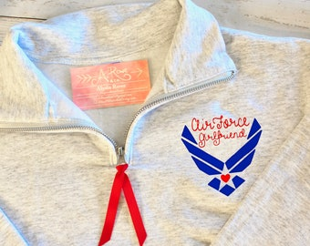 ee5b9818a Air Force Embroidered Quarter Zip Sweatshirt