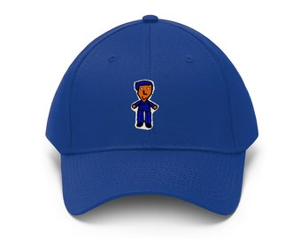 BOBBY BLUE tm white shadow HAT