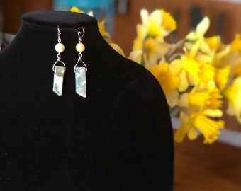 Stone earrings / wire earrings / handmade