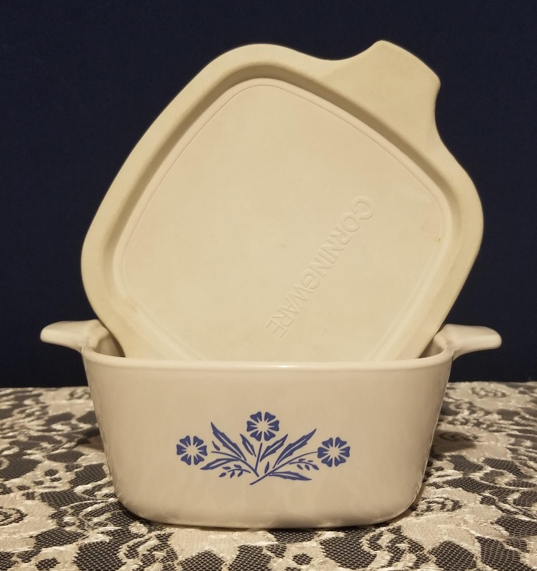 Corningware Blue Cornflower Dish With Plastic Lid Etsy