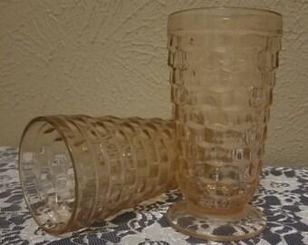 Set of 2 Pink Iced Tea Glasses