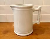 Vintage White Ironstone Pitcher Carr China Company Milk Pitcher Milk Jug