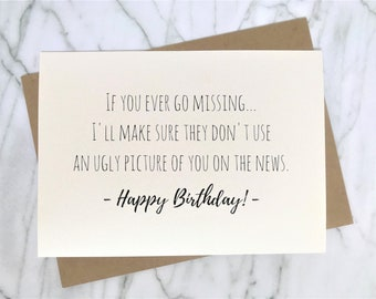 Funny Birthday Card For Best Friend Ironic Trendy Sarcastic Milk Carton Clever