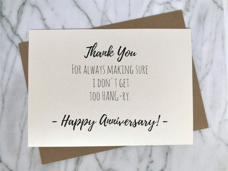 44ff78588 Hangry Card Anniversary Card for Husband Foodie Card Funny | Etsy