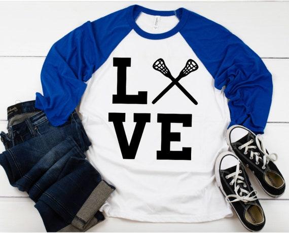 aac1b5ce4a22f ... Lacrosse Love | Unisex Raglan Sleeve T-Shirt