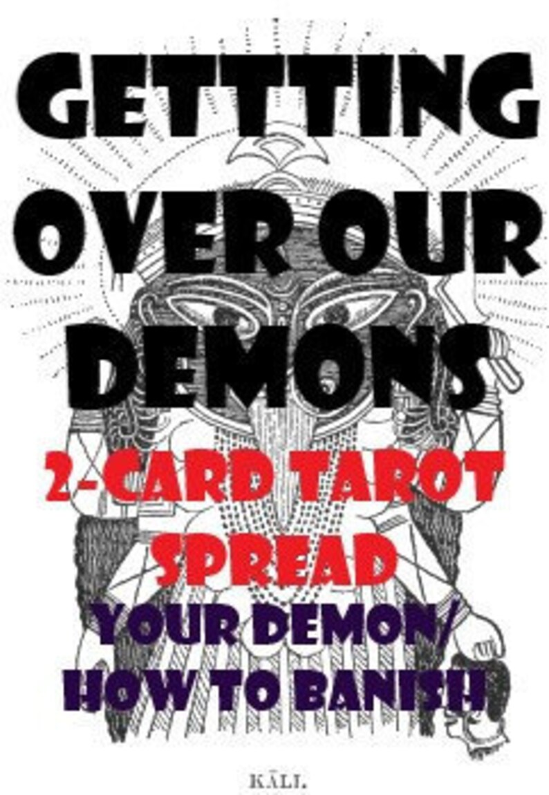 Getting Over Our Demons 2-Card Spread-same day reading divination wicca  pagan runes casting tarot cards magic fortune telling 24 hour