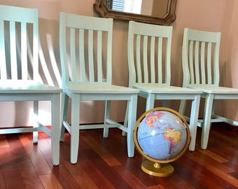 Set of 4 Painted Schoolhouse Chairs