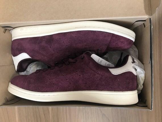 8b5dc99e42334 Stan Smith Adidas Suede Purple Maroon Shoes NIB Fast Ship