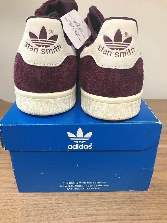 5a4d960d7 Stan Smith Adidas Suede Purple Maroon Shoes NIB Fast Ship