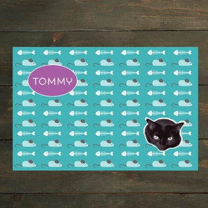 Pets Floor Mat Pet Placemat Pet Mat Mice Personalized Cat Food Mat Fish Cats Pet Decor Custom Cat Mat Food Bowl Mat Monogram