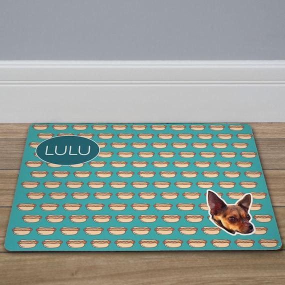food bowl mat dog decor custom Dog Bone Personalized Pet Mat floor mat -gfy831117237-bone dog placemat dog mat pet mat