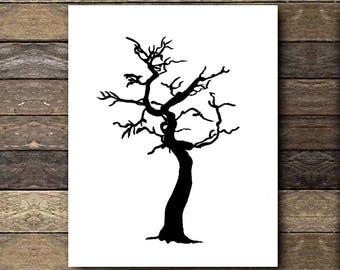 Canvas Print | Wall Art | Nature Art | Creepy Tree
