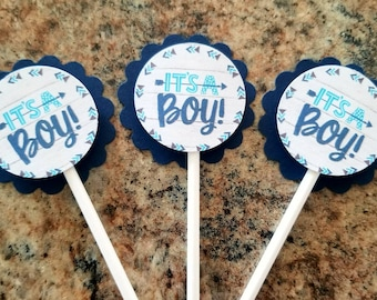 It's A Boy Cupcake Toppers Set of 24