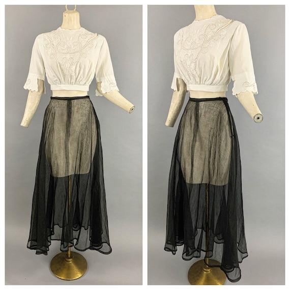 Antique Edwardian tulle skirt | Vintage 1900s 191… - image 1