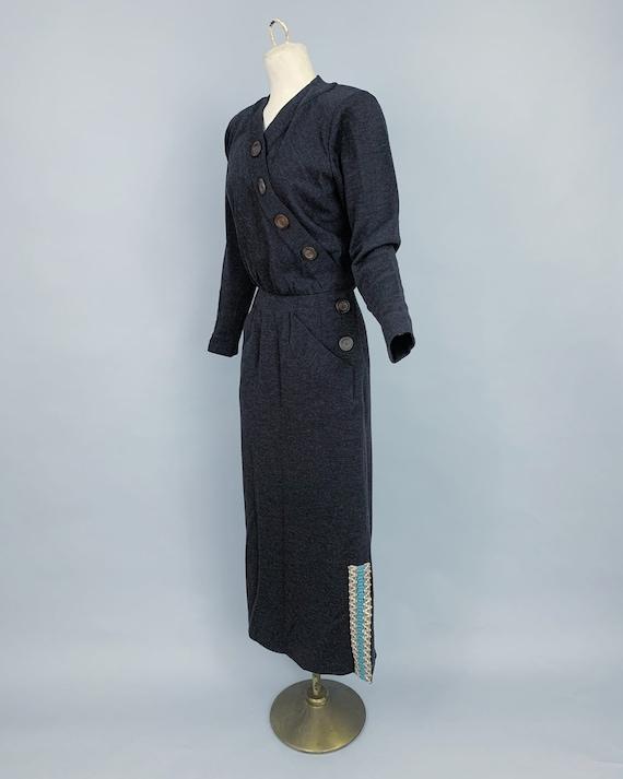Vintage Yves Saint Laurent RIVE GAUCHE wool dress… - image 9