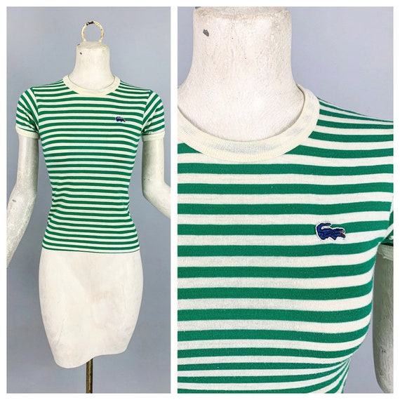 Vintage 70s Chemise Lacoste striped tee   1970s Ch