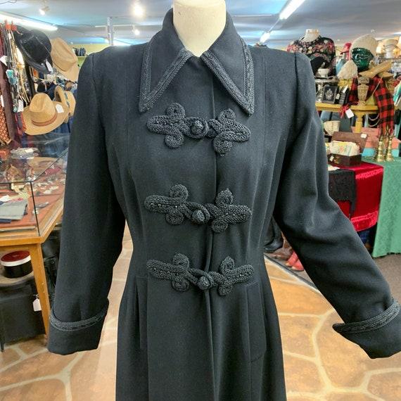 Vintage 40s black wool princess coat | 1940s prin… - image 5