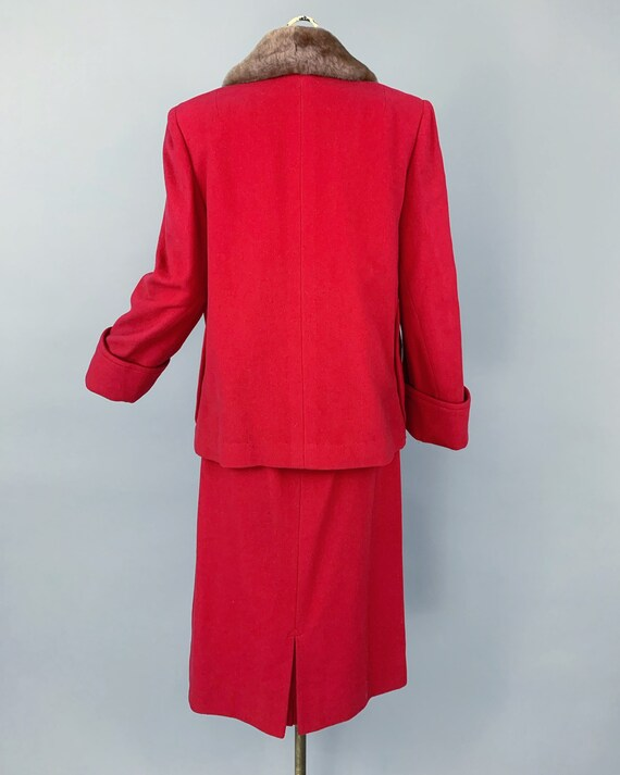 Vintage 30s ladies skirt suit with mouton collar … - image 7