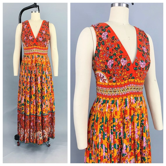 Vintage 60s Saks Fifth Ave jumpsuit | 1960s vibran