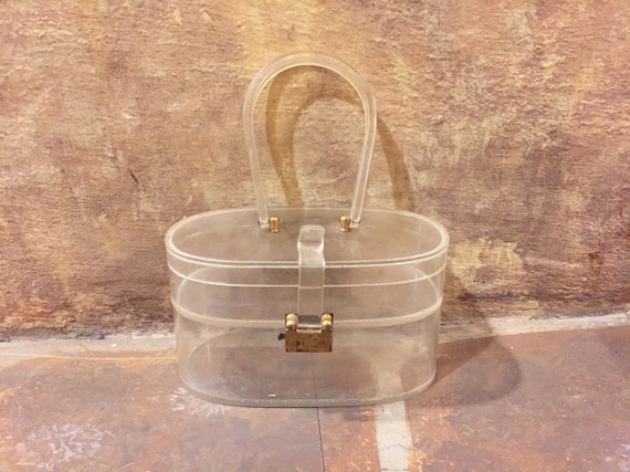 Vintage 50s Mid Century Wilardy clear lucite doubl