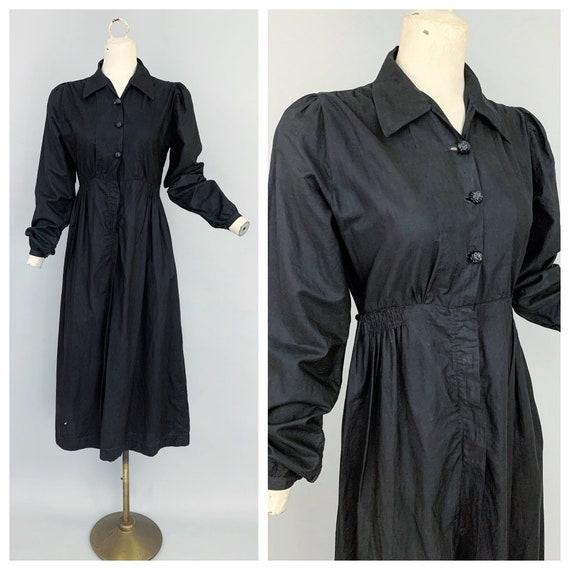 Antique Edwardian maids dress   1900s 1910s black
