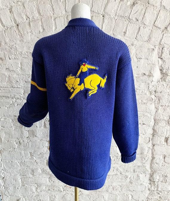 Vintage 50s Bradley Knitwear wool varsity letterm… - image 5