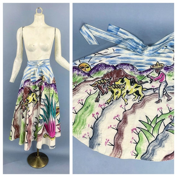 Vintage 50s Mexican circle skirt | 1950s Mexican s