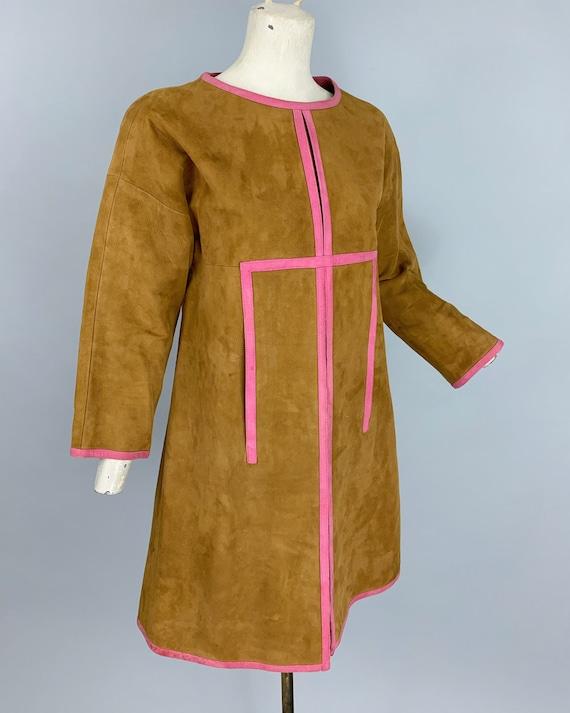 Vintage 60s Bonnie Cashin Sills suede dress | 196… - image 5