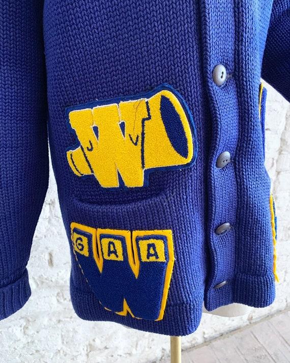 Vintage 50s Bradley Knitwear wool varsity letterm… - image 7
