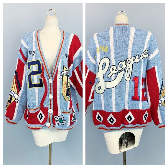 Vintage 80s 90s Absolutely No! Jeans cardigan swea