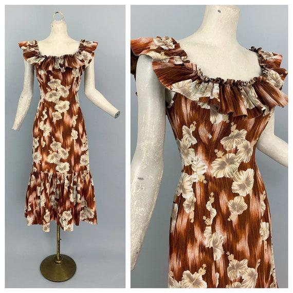 Vintage 40s RARE Hawaiian dress | 1940s Royal Hawa