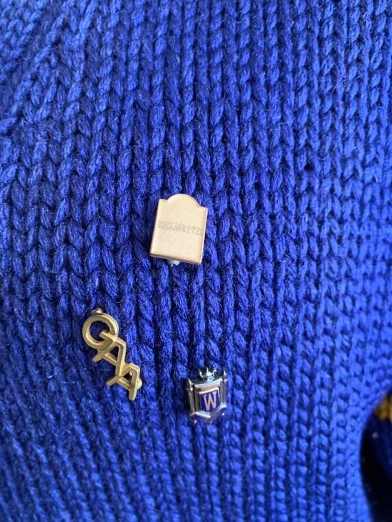 Vintage 50s Bradley Knitwear wool varsity letterm… - image 6