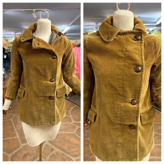 Vintage 30s corduroy work jacket | 1930s corduroy