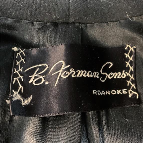 Vintage 40s black wool princess coat | 1940s prin… - image 8