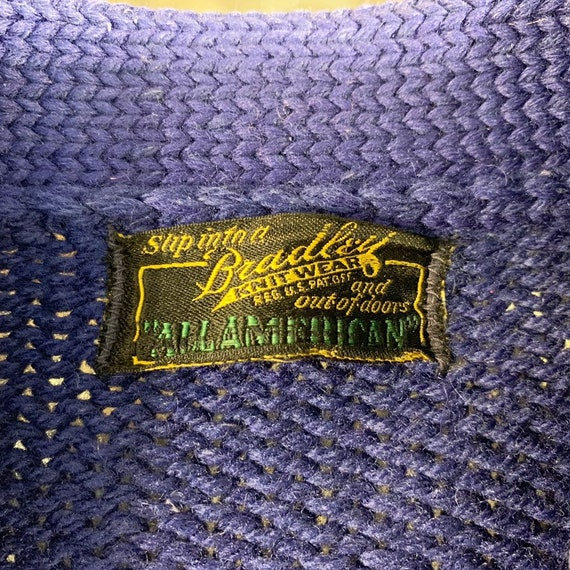 Vintage 50s Bradley Knitwear wool varsity letterm… - image 2