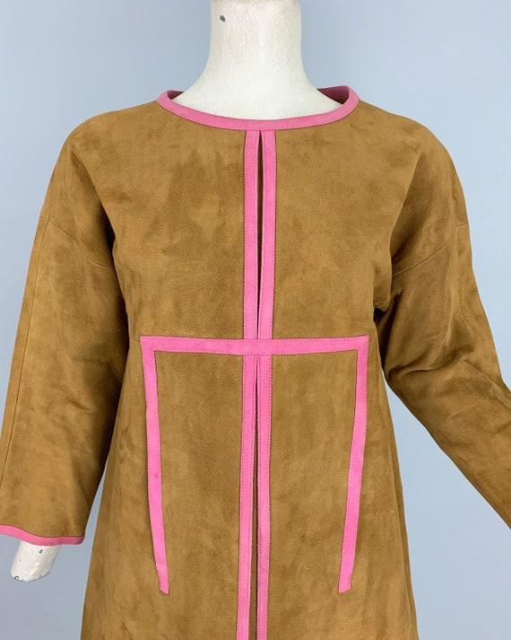 Vintage 60s Bonnie Cashin Sills suede dress | 196… - image 4
