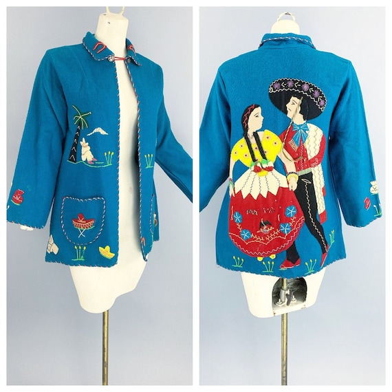 Vintage 40s Arte Azteca Mexican souvenir jacket |