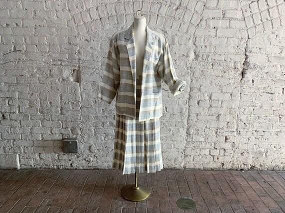 Vintage 70s 80s Evan Picone raw silk suit   1970s
