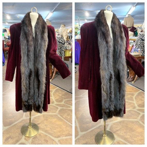 Vintage 40s velvet & fur coat   1940s Forman's win