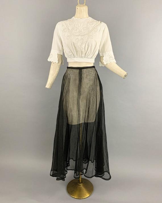 Antique Edwardian tulle skirt | Vintage 1900s 191… - image 2
