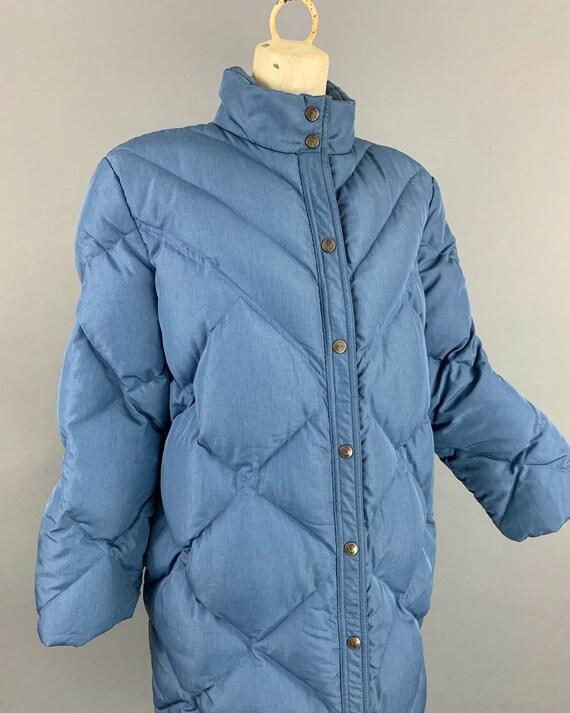 Vintage 80s Bill Blass down maxi puffer coat | 19… - image 6