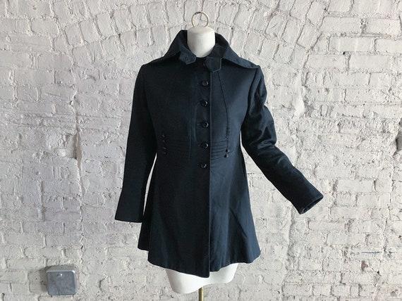 Antique Edwardian wool coat | 1900s 1910s black wo