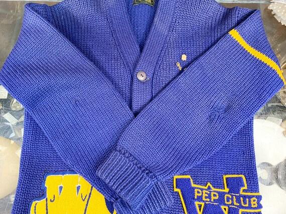 Vintage 50s Bradley Knitwear wool varsity letterm… - image 9