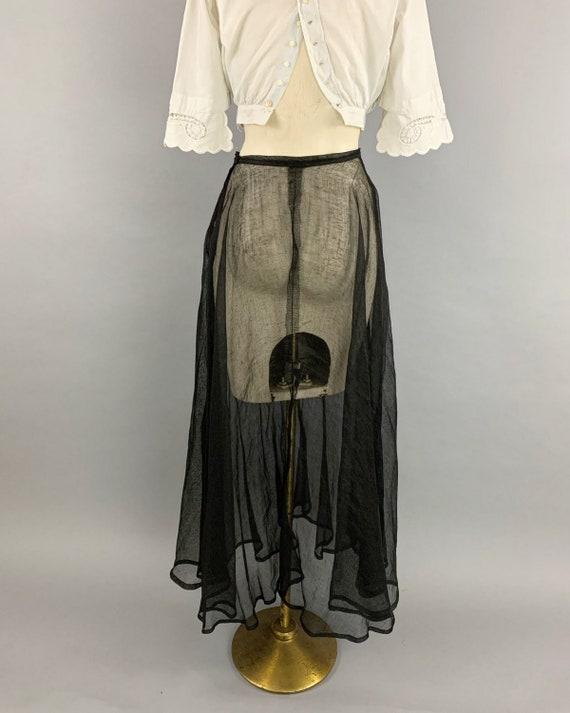 Antique Edwardian tulle skirt | Vintage 1900s 191… - image 8